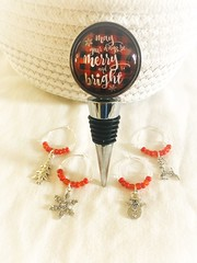 May your days be merry and bright Christmas bottle stopper https://etsy.me/2VL4Fsg