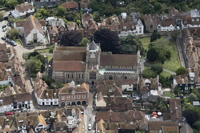 Aerial image: St Marys Church in Rye