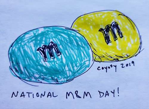 Inktober 13, 2019: National M&M Day
