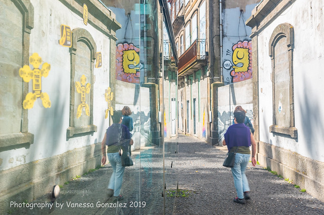 street reflection in Porto, Portugal