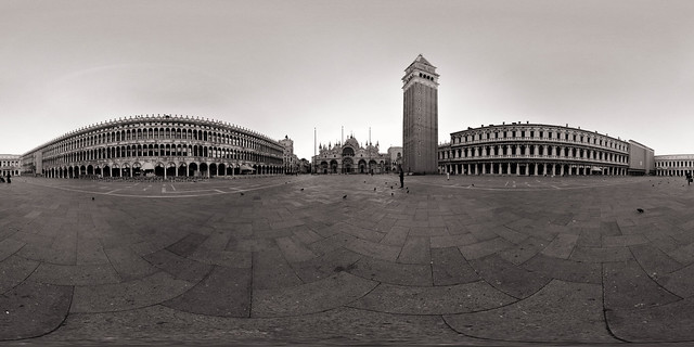 Piazza San Marco in Black and White, Venice, Italy