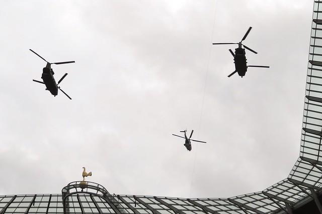 Alien Flight Flypast NFL Tottenham Stadium 13 October 2019