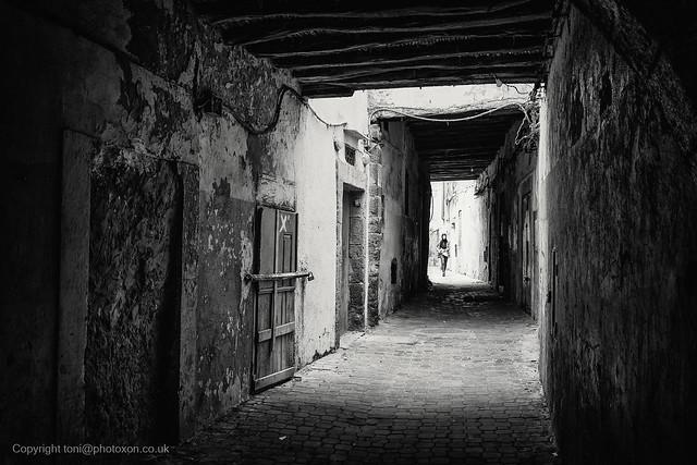 Walking through Essaouira backstreets