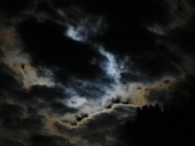 Clouds Covering The Moon.