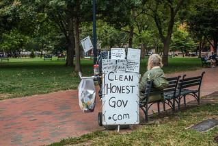 Protester in Lafayette Park - HBM