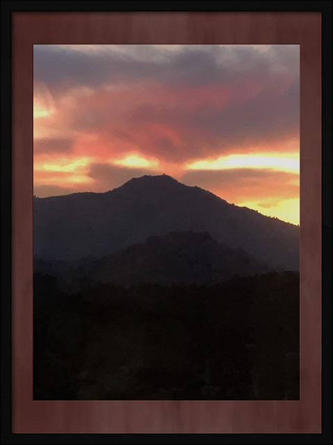 Last Night at Sunset Mt Tam Looked Like A Volcano