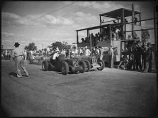 No. 21, Alf Najar next to No. 22, Jack Nind, Grand Prix, Bathurst, October 1946