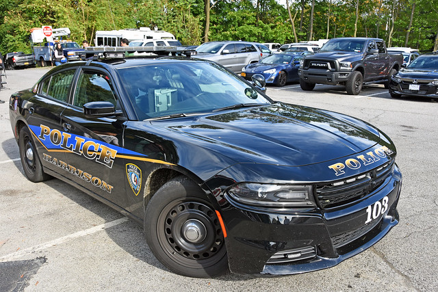 Picture Of Town Of Harrison New York Police Department Car  - Car 103 - 2018 Dodge Charger Taken During Their Open House On Sunday October 13, 2019. Photo Taken Sunday October 13, 2019