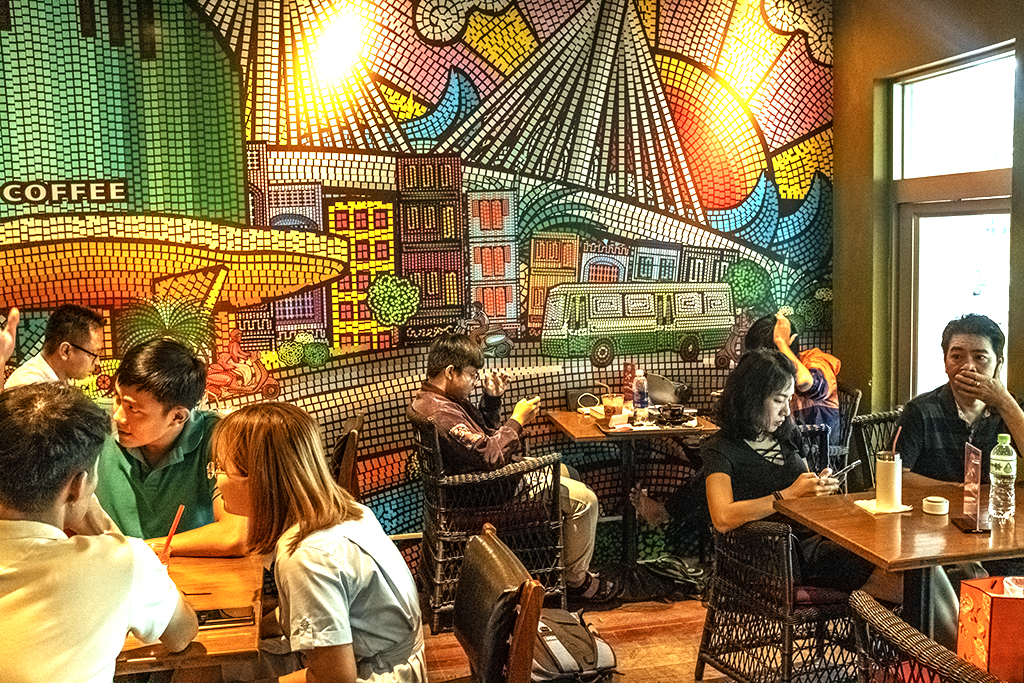 Highlands Coffee in District 7--Saigon