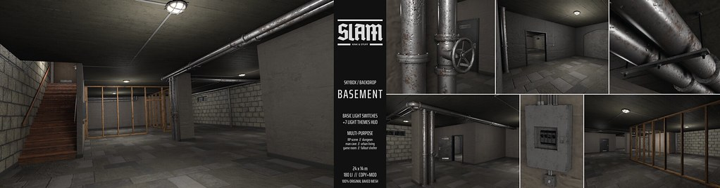 SLAM // basement // MAN CAVE Event