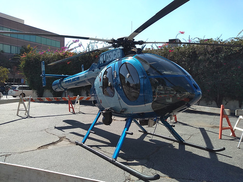 Front View of Glendale Police Helicopter