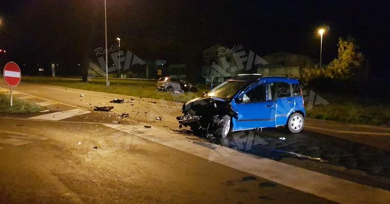Scontro allo svincolo autostradale di Polla 14 ottobre 2019