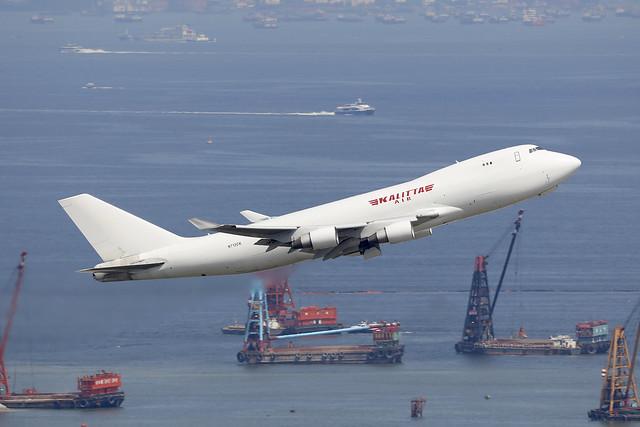 N712CK, Boeing 747-400F, Kalitta, Hong Kong