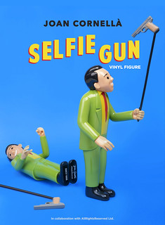 Joan Cornellà x AllRightsReserved 推「SELFIE GUN」10吋搪膠人偶 全球限量1000枚!DING DONG 宅配便獨家販售