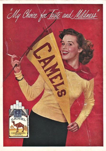 Camel Cheerleader, 1950