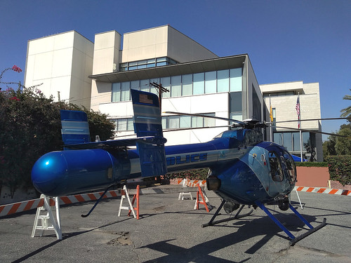 Backside of Glendale Police Helicopter