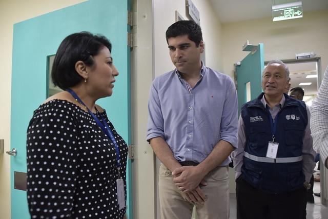 VICEPRESIDENTE OTTO SONNENHOLZNER Y EL GOBERNADOR PEDRO PABLO DUART SEGALE, CONSTATARON LA OPERATIVIDAD Y CALIDAD EN LOS SERVICIOS DEL HOSPITAL MONTE SINAÍ DE GUAYAQUIL, 23 DE SEPTIEMBRE DE 2019.