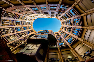 From the courtyard of Casa Milà - Barcelona | by Phil Marion (179 million views - THANKS)