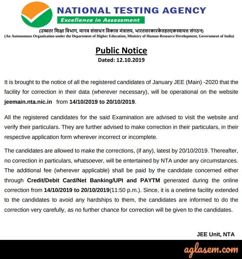 form correction notice