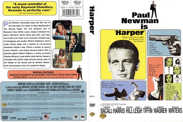 USA classic DVD cover art for Paul Newman P.I. outing