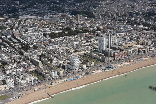 Brighton seafront aerial image