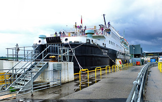Scotland West Highlands Argyll the large car ferry Isle of Mull docked at Oban p2 15 June 2019 by Anne MacKay