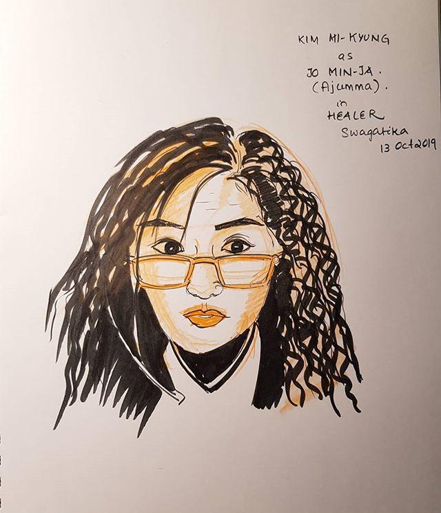 #healerahjumma #jominja #kimmikyung #healer #kdrama #koreandrama . #inktober2019day13 #inktober2019