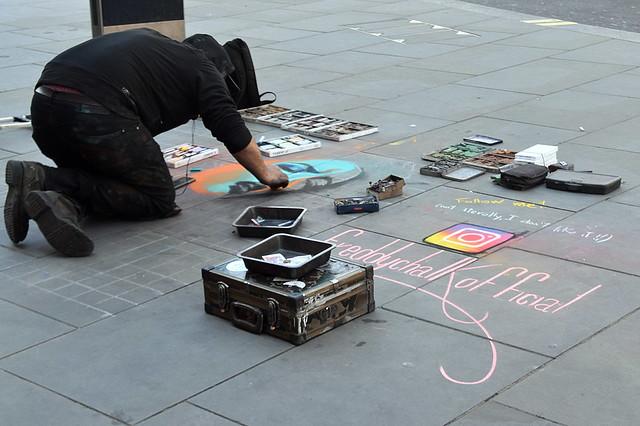 Street Artist, West End, London