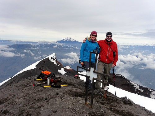 Edita and me on the summit of Tungurahua (5016m) | by markhorrell