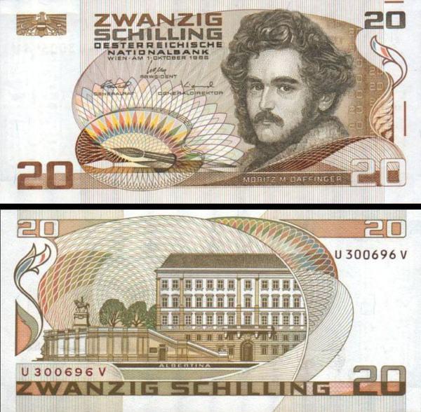 20 Schilling Rakúsko 1986, P148