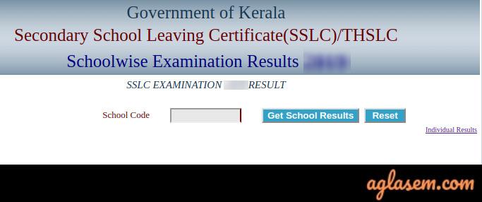 Kerala SSLC School wise Result 2020