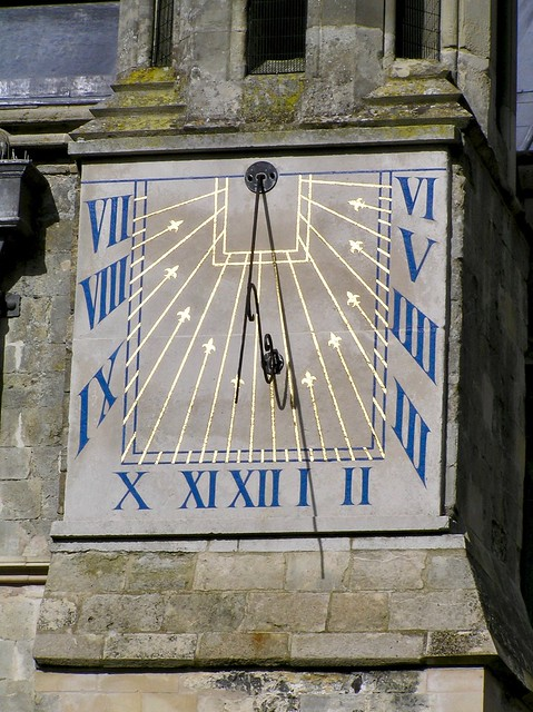 Sundial on Chichester cathedral