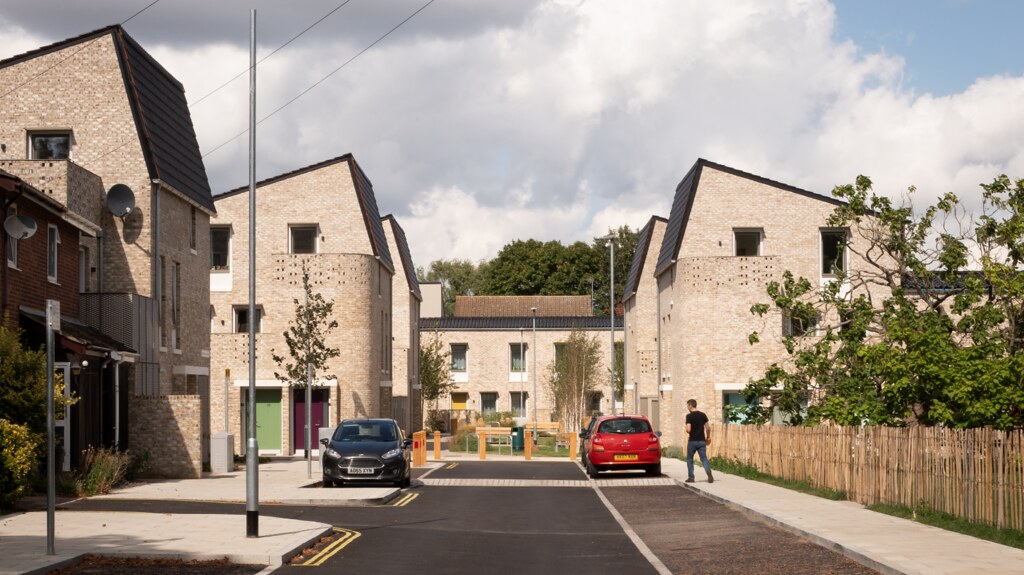 A house at the Goldsmith Street development which won the 2019 RIBA Stirling Prize
