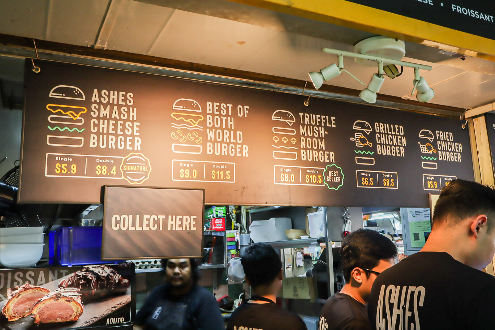 ashes burger menu