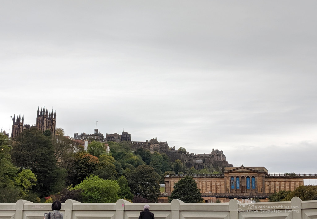 Waverley Bridge looking towards Edinburgh Castle