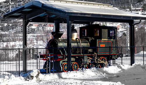 Historical train at the Narvik Train Station, Narvik, Norway-16a