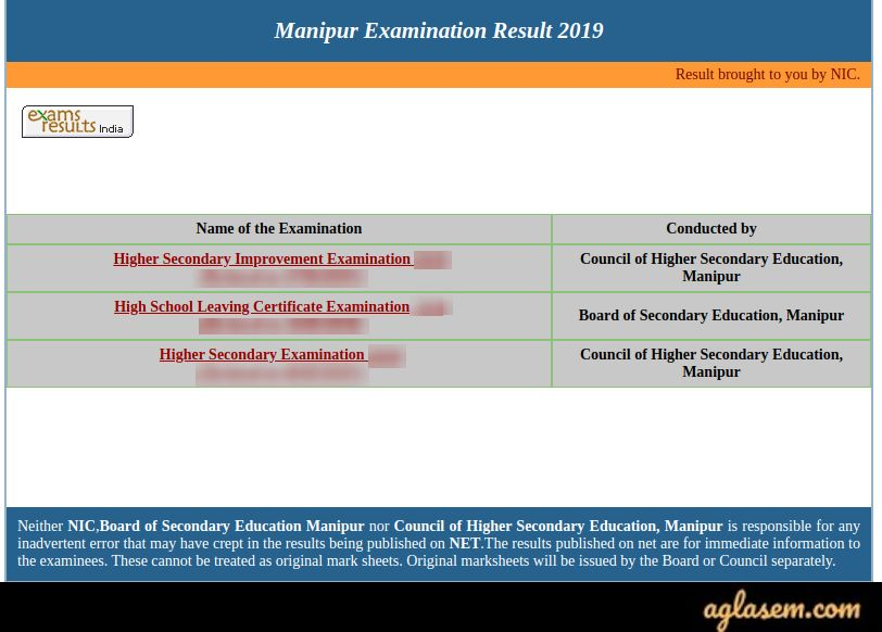 Manipur HSE Result 2020