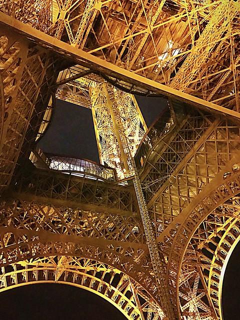 Below the Eiffel