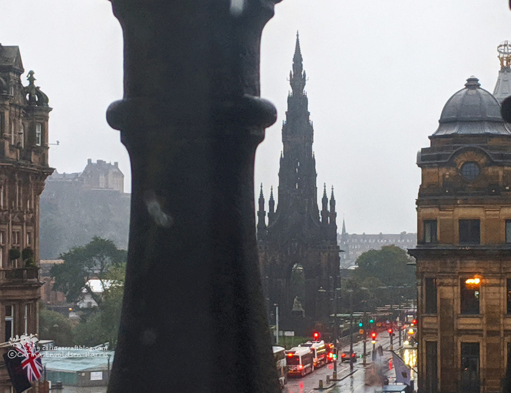 Princes Street view from hotel