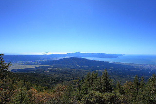 Izu Peninsula Geopark seen from Mt.Fuji