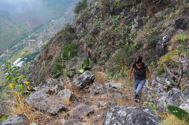 Steep ascent on La Gomera