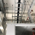 Cable cleats install overhead on cable tray