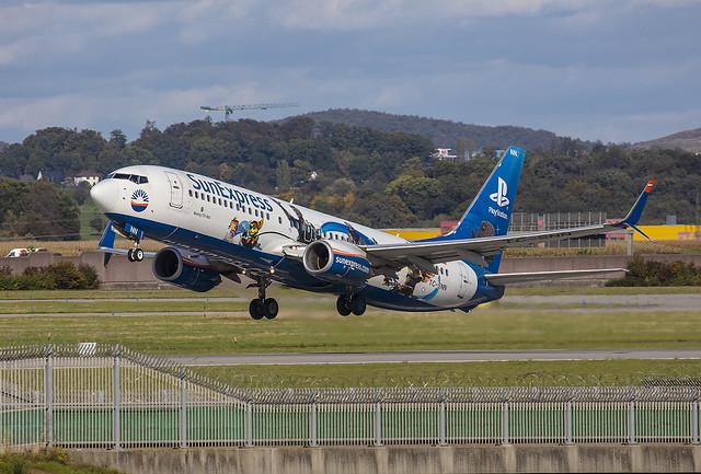 TC-SNN, Boeing 737-8HC Sun Express @ Stuttgart STR EDDS