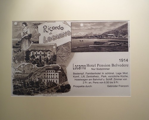 Belvedere Hotel Advertisement from 1914. From History Comes Alive at Locarno's Belvedere Hotel