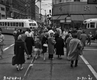 Pedestrians at 3rd & Pike, 1961