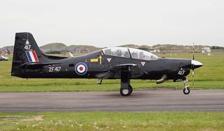 RAF Shorts Tucano T1 72 Flight Training Sqn ZF417 RAF Linton-on-Ouse (3)