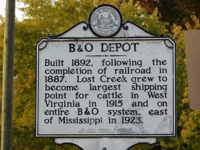 B & O Depot Historic Marker