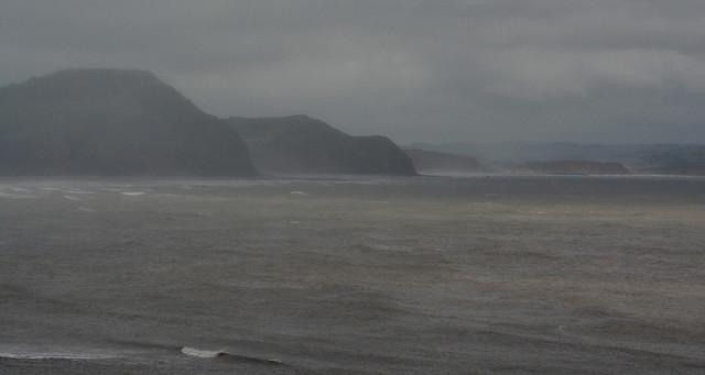 Rainy view from Lyme Regis