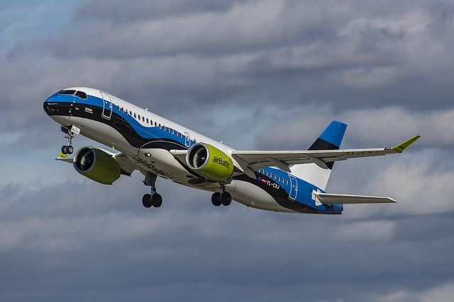 YL-CSJ, Airbus A220-300 Air Baltic @ Stuttgart STR EDDS
