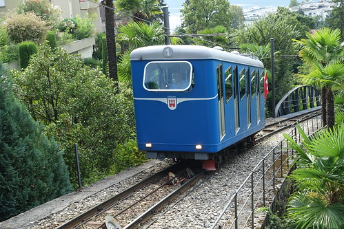 Locarno Funicular near Belvedere Hotel. From History Comes Alive at Locarno's Belvedere Hotel